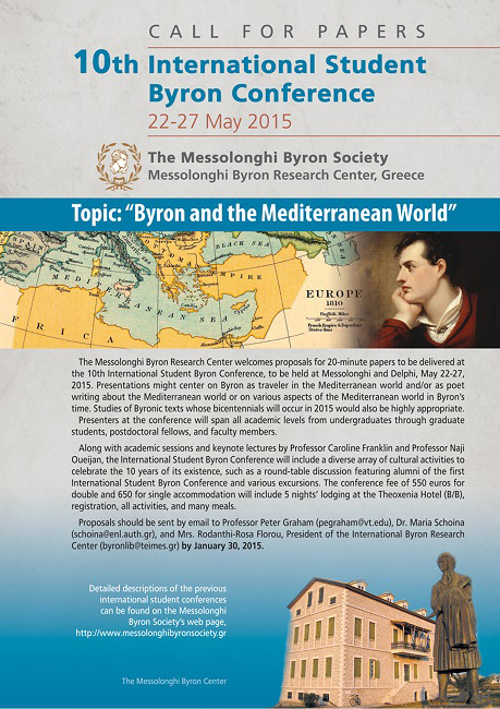 CALL FOR PAPERS – 10th International Student Byron Conference