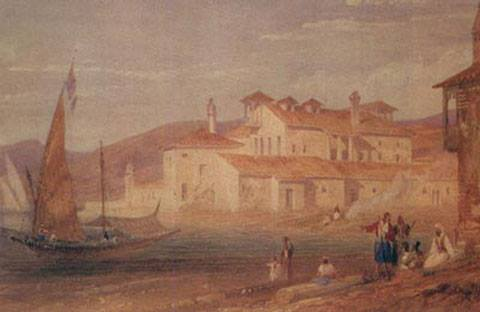 The House of Christos Kapsalis, Lord Byron's residence in Messolonghi 5 January – 19 April 1824