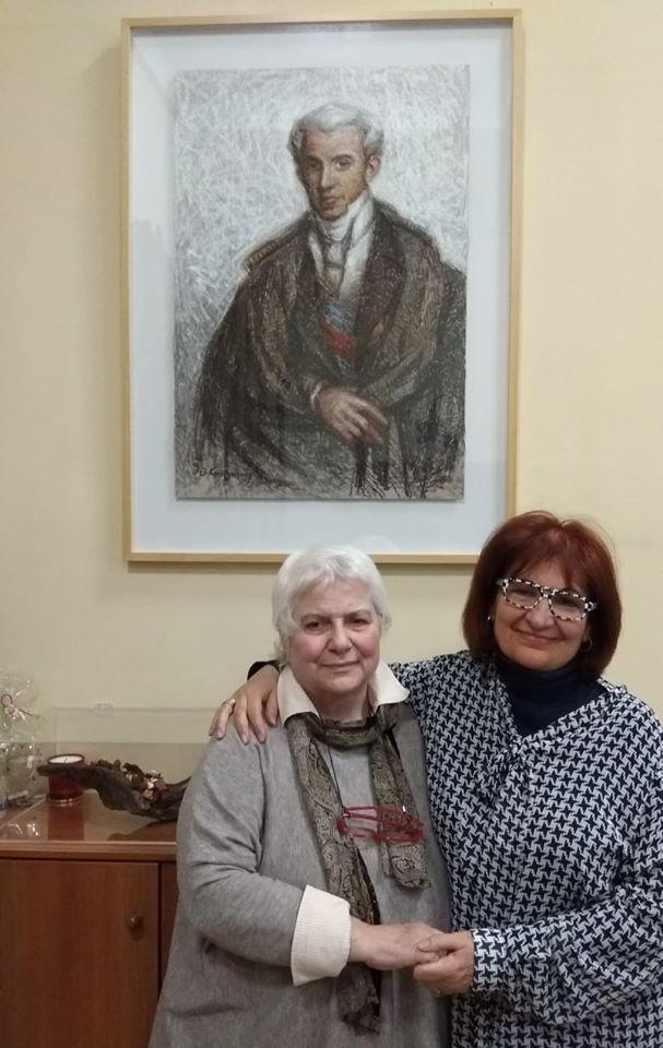 Με την διακεκριμένη Ιστορικό, κυρία Ευθυμία Παπασπύρου, Διευθύντρια του Εθνικού Ιστορικού Μουσείου ( National Historical Museum).
